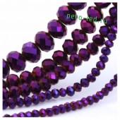 Фиолетовый хамелеон цвет. Круглые граненые бусины. OlingArt  8 мм. 70 шт+/-2 шт. #38