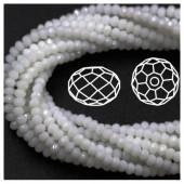 Белый цвет. Круглые граненые бусины. OlingArt  8 мм. 70 шт+/-2 шт. # 2