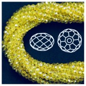 Желтый хамелеон цвет. Круглые граненые бусины. OlingArt  8 мм. 70 шт+/-2 шт. #18