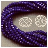 Темно-синий цвет. Круглые граненые бусины. OlingArt 8 мм. 70 шт+/-2 шт. #29