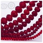 Бордо цвет. Круглые граненые бусины. OlingArt  8 мм. 70 шт+/-2 шт. #33