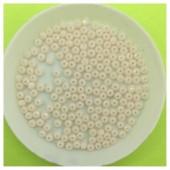 2 мм. 150 шт.  Топленое молоко цвет. Бусинки круглые стеклярус. № 21
