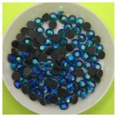 № 20. Синий хамелеон цвет. Стразы клеевые 100 шт. № 14