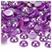 Фиолетовый хамелеон цвет.Полукруглые бусины имитация жемчуга. 6 мм.  250 шт  #11