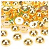 Золото цвет. Полукруглые бусины имитация жемчуга.  4 мм.  500 шт  #13