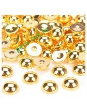 Золото хамелеон цвет. Полукруглые бусины имитация жемчуга. 8 мм. 150 шт  #10