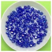 4 мм. 100 шт. Синий хамелеон цвет. Бусинки ромбы № 7