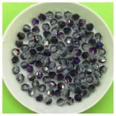4 мм.100 шт. Фиолетовый хамелеон прозрачный цвет. Бусинки ромбы № 21