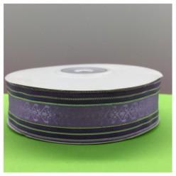 1 м. Фиолетовый цвет. Тесьма с полосками. 2.5 см. С-80