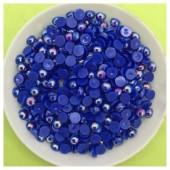 № 4. Синий хамелеон цвет. Бусинки клеевые. 500 шт. № 9