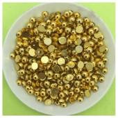 № 4. Золото цвет. Бусинки клеевые. 500 шт. № 13