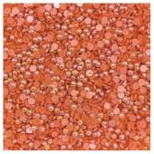 № 4. Оранжевый хамелеон цвет. Бусинки клеевые. 10000 шт. № 7