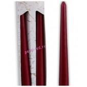 2 шт. Бордо цвет. Свеча классическая в коробочке . 2 см х 2 см х 25 см