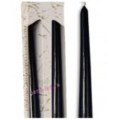 2 шт. Черный цвет. Свеча классическая в коробочке . 2 см х 2 см х 25 см
