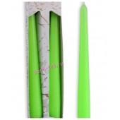 2 шт. Салатовый цвет. Свеча классическая в коробочке . 2 см х 2 см х 25 см