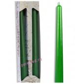 2 шт. Темно-зеленый цвет. Свеча классическая в коробочке . 2 см х 2 см х 25 см