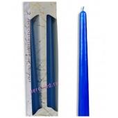 2 шт. Голубой цвет. Свеча классическая в коробочке . 2 см х 2 см х 25 см