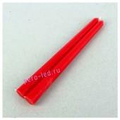 2шт. Красный цвет. Свеча классическая.  2 см х 2 см х 25 см
