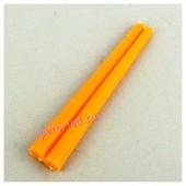 2шт. Оранжевый цвет. Свеча классическая.  2 см х 2 см х 25 см