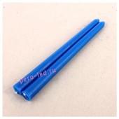 2шт. Синий цвет. Свеча классическая.  2 см х 2 см х 25 см