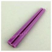 2шт. Фиолетовый цвет. Свеча классическая. . 2 см х 2 см х 25 см