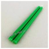 2шт. Зеленый цвет. Свеча классическая.  2 см х 2 см х 25 см