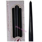 4 шт. Черный цвет. Свеча классическая. 23 мм х 23 мм х 245 мм