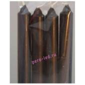 4 шт. Коричневый цвет. Свеча классическая. 19 мм х 19 мм х 175 мм