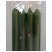 4 шт. Темно-зелень цвет. Свеча классическая. 19 мм х 19 мм х 175 мм