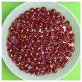 4 мм. 150 шт. Красный хамелеон цвет. Бусинки круглые с огранкой стеклярус № 25