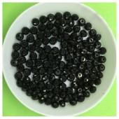 4 мм. 150 шт. Черный цвет. Бусинки круглые с огранкой стеклярус № 28