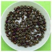 4 мм. 150 шт. Фиолетовый хамелеон цвет. Бусинки круглые с огранкой стеклярус № 31