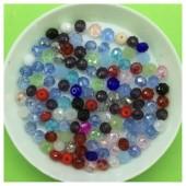 4 мм. 150 шт. Микс цвет. Бусинки круглые с огранкой стеклярус № 33