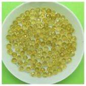 4 мм. 150 шт. Желтый прозрачный цвет. Бусинки круглые с огранкой стеклярус № 43