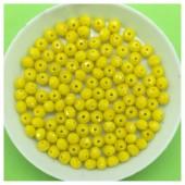 4 мм. 150 шт. Желтый матовый цвет. Бусинки круглые с огранкой стеклярус № 44
