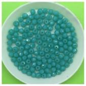 4 мм. 150 шт. Морская волна матовый цвет. Бусинки круглые с огранкой стеклярус № 46