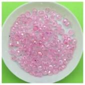 4 мм. 150 шт. Розовый прозрачный цвет. Бусинки круглые с огранкой стеклярус № 7