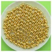 4 мм. 50 гр. Золото цвет. Цветные бусинки № 1.   050