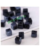Черный цвет. Кубики бусинки хрустальные 30*30 100 шт #3  #1403