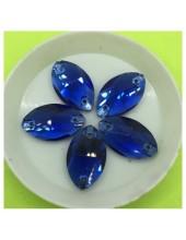 Н-44. 1 шт. Синий цвет. Бусинки грань 13х22 мм