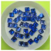 50 х 50 мм. Синий цвет. Стразы клеевые 50 шт. № 9