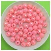 6 мм. 50 гр. Розовый цвет. Бусинки хамелеон грань  Пришивные  № 2.  053