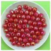 6 мм. 50 гр. Красный цвет. Бусинки хамелеон грань  Пришивные  № 3.   053