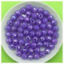 6 мм. 50 гр. Фиолетовый цвет. Бусинки хамелеон грань  Пришивные  № 4.  053