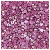 № 6. Темно-фиолетовый хамелеон цвет. Бусинки клеевые 5000 шт. № 13