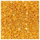 № 6. Желтый хамелеон цвет. Бусинки клеевые 5000 шт. № 6