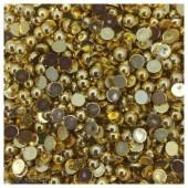 № 6. Золото цвет. Бусинки клеевые 5 000 шт. № 14