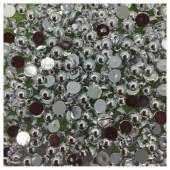 № 6. Серебро цвет. Бусинки клеевые 5000 шт. № 15