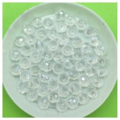 6 мм. 100 шт.  Белый хамелеон цвет. Бусинки круглые с огранкой стеклярус № 1