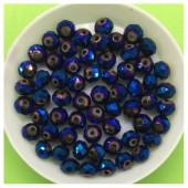 6 мм. 100 шт. Синий хамелеон цвет. Бусинки круглые с огранкой стеклярус № 14